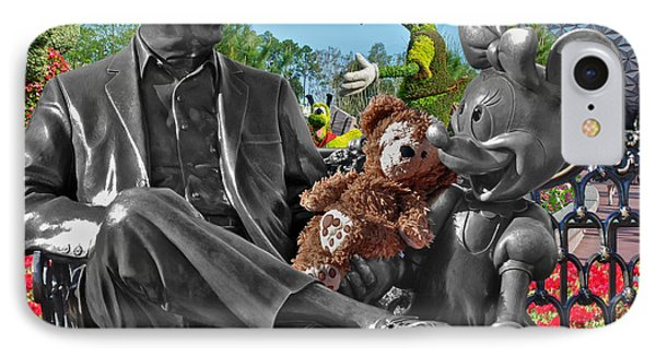 Bear And His Mentors Walt Disney World 03 Phone Case by Thomas Woolworth