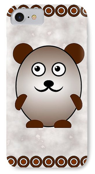 Bear - Animals - Art For Kids IPhone Case by Anastasiya Malakhova