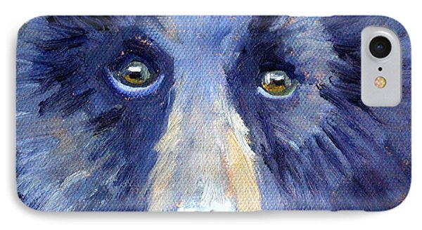 Bear Face IPhone Case by Nancy Merkle