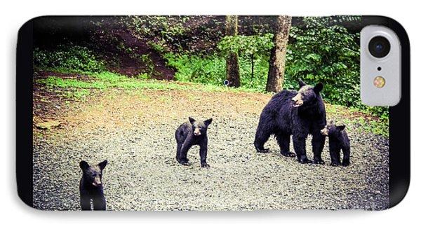 Bear Family Affair IPhone Case by Jan Dappen