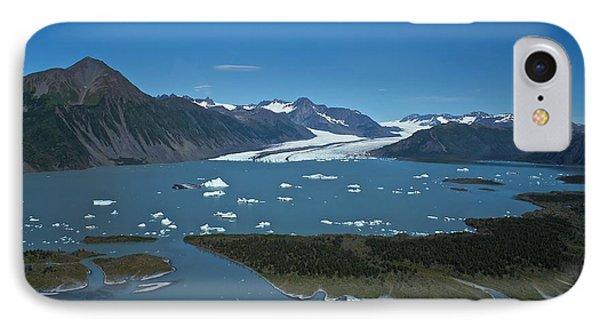 IPhone Case featuring the photograph Bear Glacier Seward Alaska by Michael Rogers