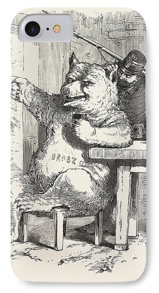 Bear Having A Glass Of Wine, Around 1870, Hungary, Wine IPhone Case