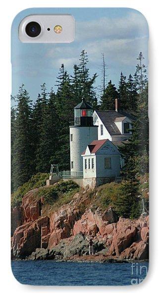 Bear Island Lighthouse Phone Case by Kathleen Struckle