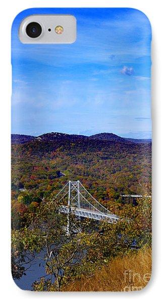 Bear Mountain Bridge From Camp Smith Trail IPhone Case by Rafael Quirindongo