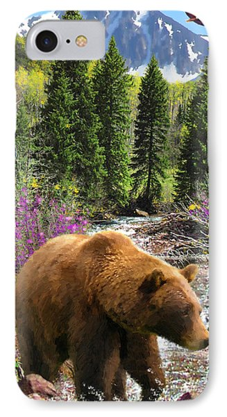 IPhone Case featuring the painting Bear Necessities by Doug Kreuger