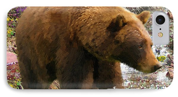 IPhone Case featuring the painting Bear Necessities II by Doug Kreuger