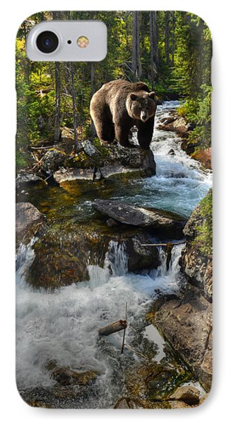 Bear Necessity IPhone Case by Ken Smith