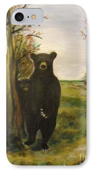 IPhone Case featuring the painting Bear Necessity by Laurie L