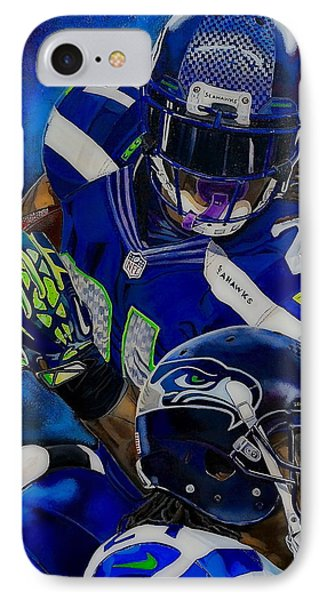 Marshawn Lynch Beast Mode IPhone Case by Chris Eckley