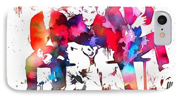 Beastie Boys Paint Splatter IPhone Case by Dan Sproul