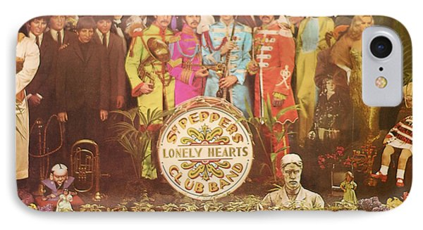 Beatles Lonely Hearts Club Band IPhone Case by Gina Dsgn