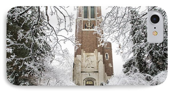 Beaumont Tower Ice Storm  IPhone Case by John McGraw