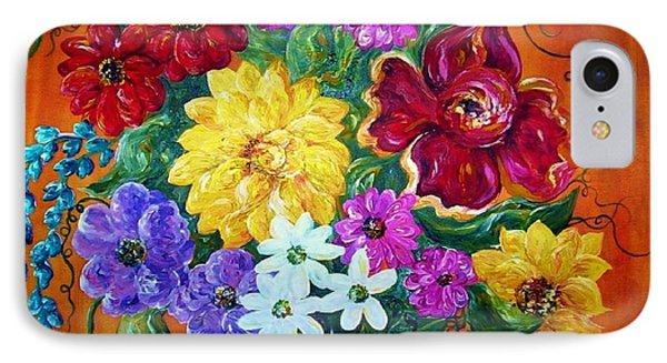 IPhone Case featuring the painting Beauties In Bloom by Eloise Schneider