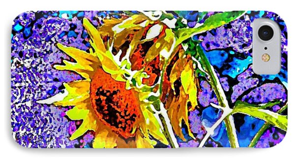 Beautiful And Bright Sunflowers IPhone Case by Annie Zeno