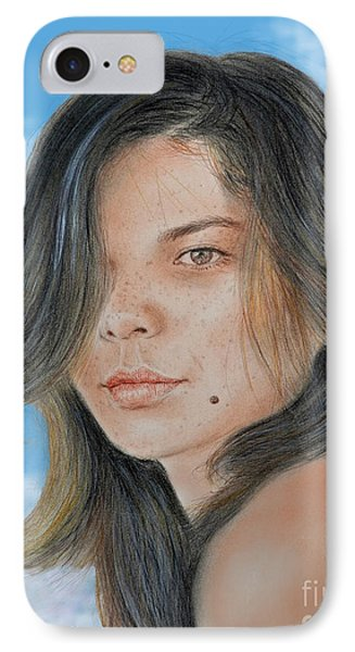 Beautiful And Sexy Actress Jeananne Goossen IIi Altered Version IPhone Case by Jim Fitzpatrick