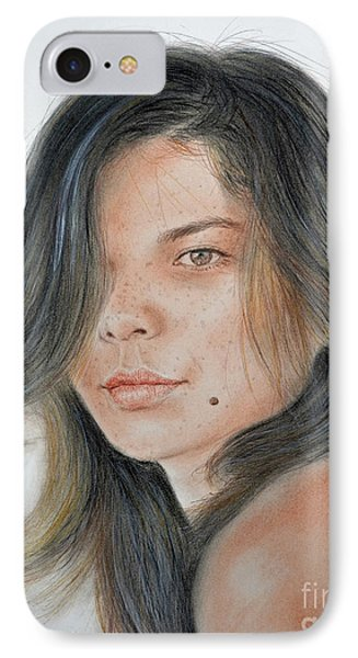 Beautiful And Sexy Actress Jeananne Goossen IIi  Phone Case by Jim Fitzpatrick