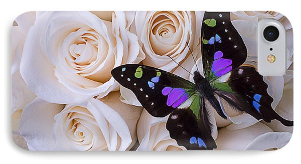 Beautiful Black Winged Butterfly IPhone Case by Garry Gay
