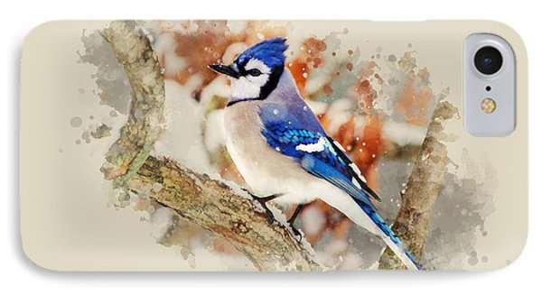 Beautiful Blue Jay - Watercolor Art Phone Case by Christina Rollo