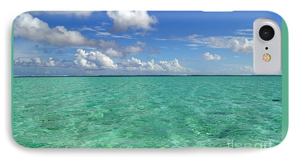 Beautiful Bora Bora Green Water And Blue Sky IPhone Case by Eva Kaufman