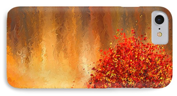 Beautiful Change- Autumn Impressionist IPhone Case by Lourry Legarde
