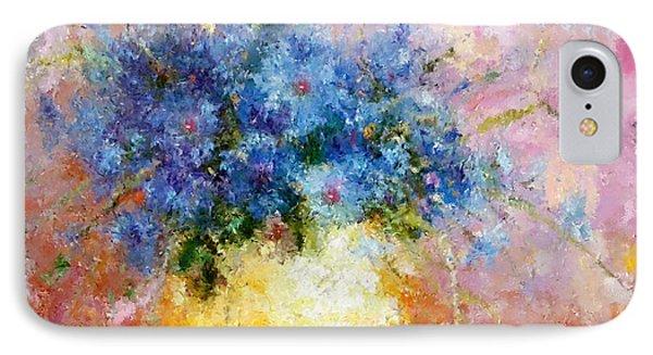 Beautiful Cornflower Expressionism IPhone Case by Georgiana Romanovna