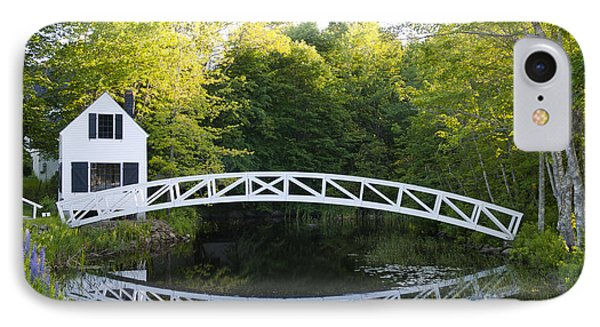 Beautiful Curved Bridge In Somesville Phone Case by Bill Bachmann
