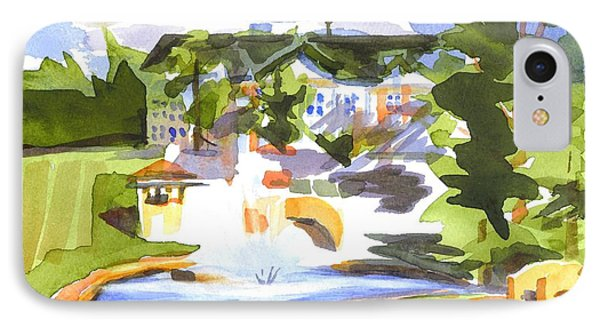 Beautiful Day At The Baptist Home Of The Ozarks In Watercolor Phone Case by Kip DeVore