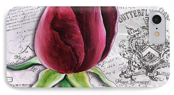Beautiful Floral Pink Rose Original Flower Painting By Megan Duncanson Phone Case by Megan Duncanson