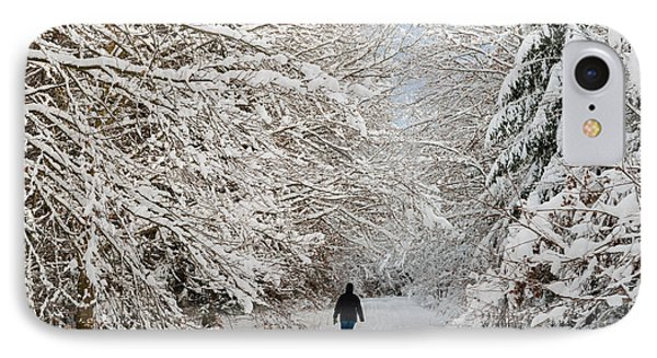 Beautiful Forest In Winter With Snow Covered Trees Phone Case by Matthias Hauser