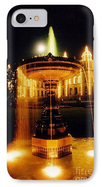 Beautiful Fountain At Night Phone Case by John Malone
