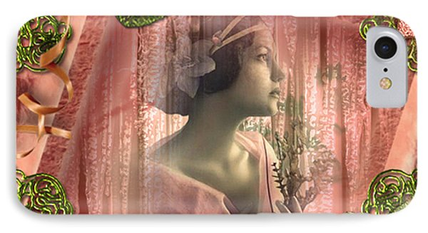 IPhone Case featuring the digital art Beautiful Fragility - Vintage Scrap Art By Giada Rossi by Giada Rossi