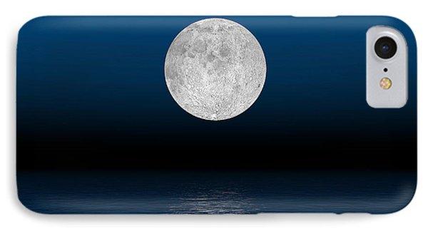 Beautiful Full Moon Against A Deep Blue IPhone Case