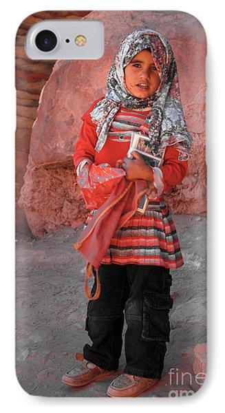 Beautiful Girl At Petra Jordan Phone Case by Eva Kaufman