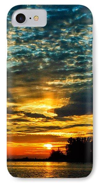 Beautiful Gulf Of Mexico Sunset Phone Case by Louis Dallara