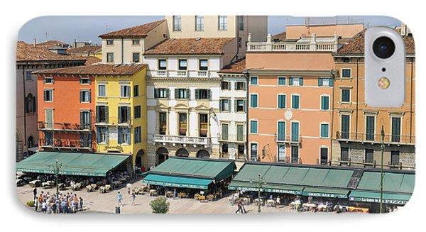 Beautiful Houses On Piazza Bra Verona Italy Phone Case by Matthias Hauser