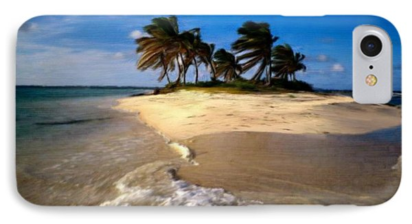 IPhone Case featuring the painting Beautiful Island by Bruce Nutting