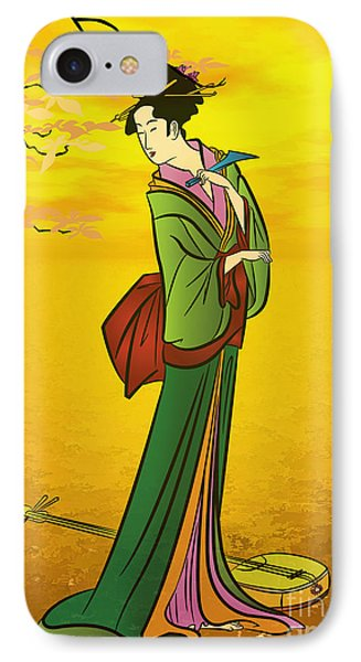 Beautiful Japanese Girl IPhone Case by Andrzej Szczerski