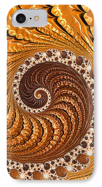 Beautiful Luxe Golden And Brown Spiral IPhone Case