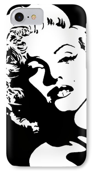 IPhone Case featuring the painting Beautiful Marilyn Monroe Original Acrylic Painting by Georgeta  Blanaru