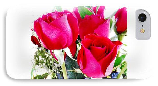 Beautiful Neon Red Roses IPhone Case by Belinda Lee