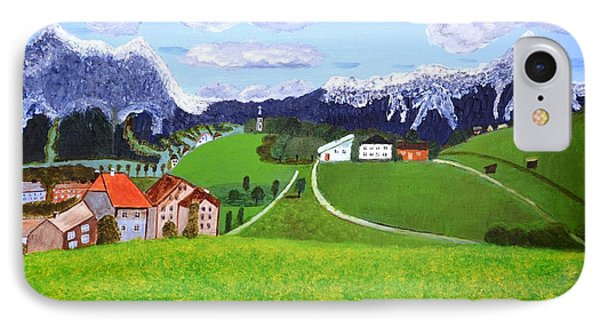 IPhone Case featuring the painting Beautiful Norway by Magdalena Frohnsdorff