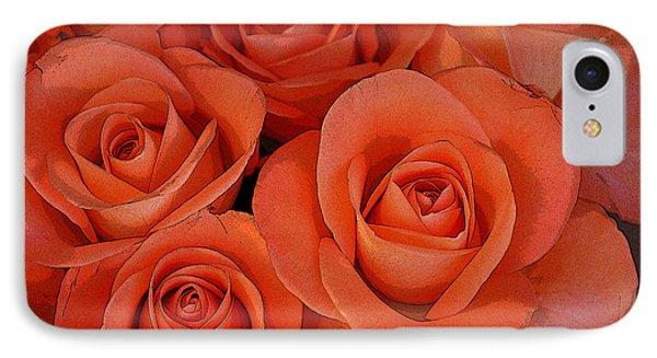 Beautiful Peach Roses 2 IPhone Case by Carol Lynch