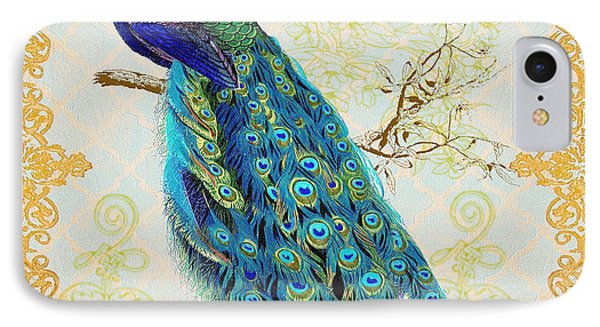 Beautiful Peacock-b IPhone Case by Jean Plout