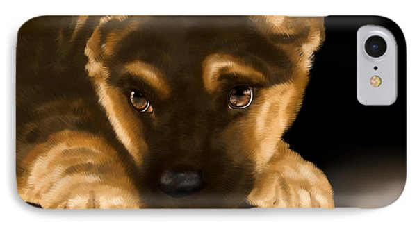 Beautiful Puppy IPhone Case by Veronica Minozzi