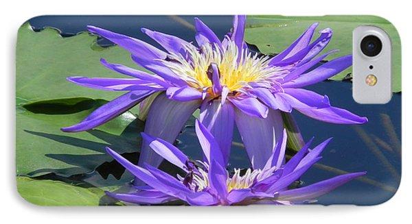 Beautiful Purple Lilies Phone Case by Chrisann Ellis