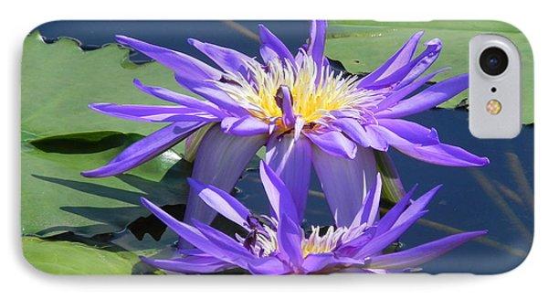 Beautiful Purple Lilies IPhone Case by Chrisann Ellis