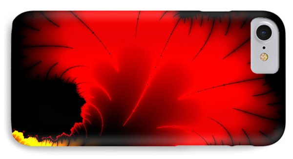 Beautiful Red And Yellow Floral Fractal Artwork Square Format Phone Case by Matthias Hauser