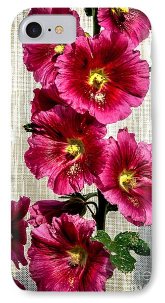 Beautiful Red Hollyhock Phone Case by Robert Bales