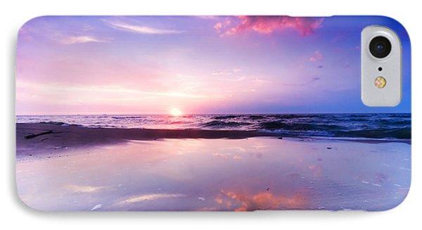 Beautiful Sea Sunrise Phone Case by Michal Bednarek