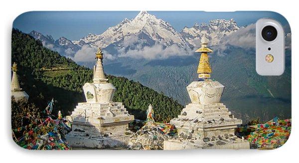 Beautiful Snow Mountain - Meili Xue Shan Phone Case by James Wheeler